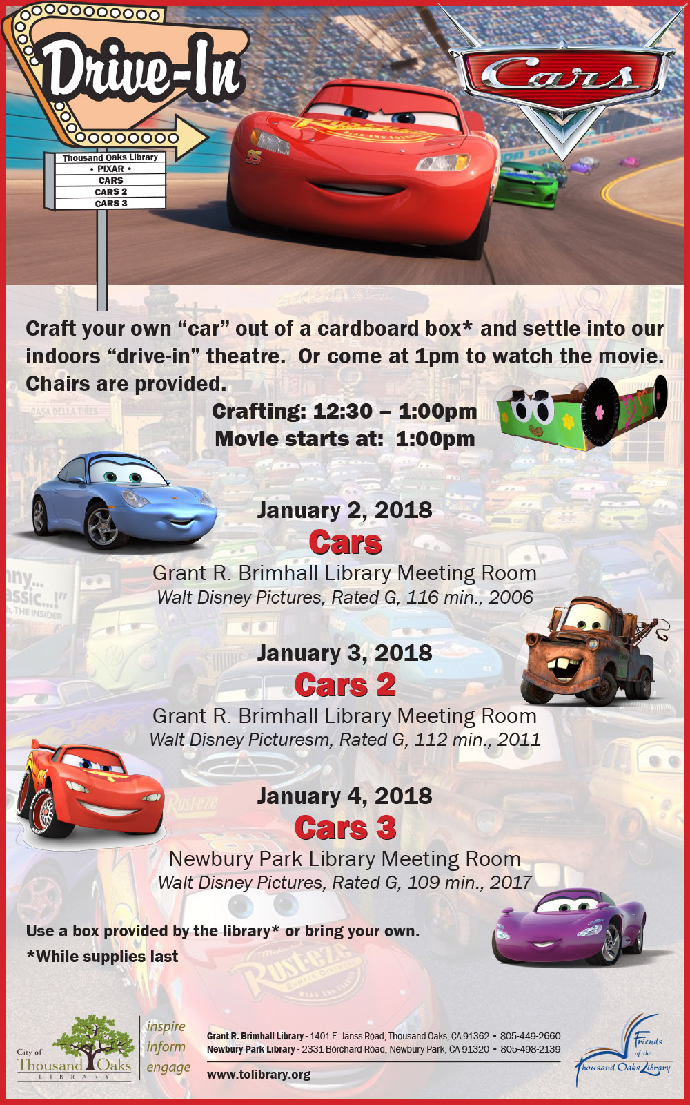 Cars Movies - Jan 2018