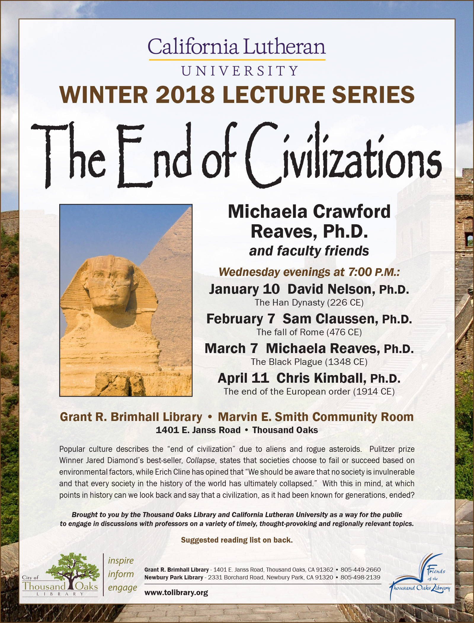 CLU Lecture Series Winter 2018-1