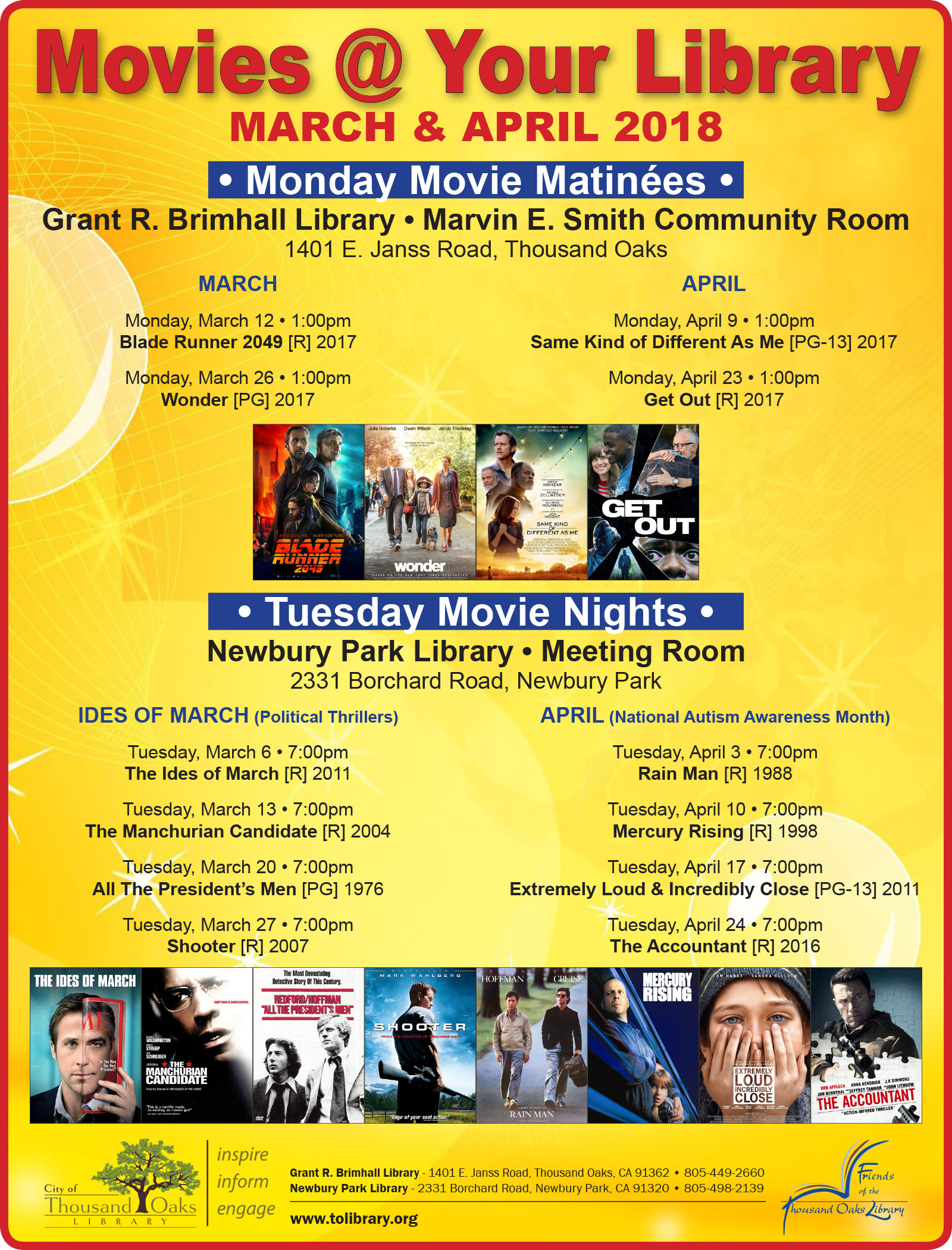 Movies @ Your Library - MarApr2018