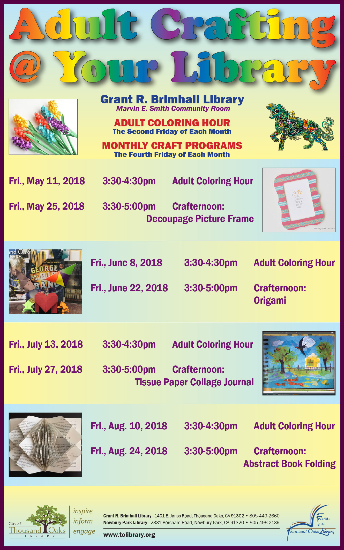 Crafting at Your Library - Summer 2018