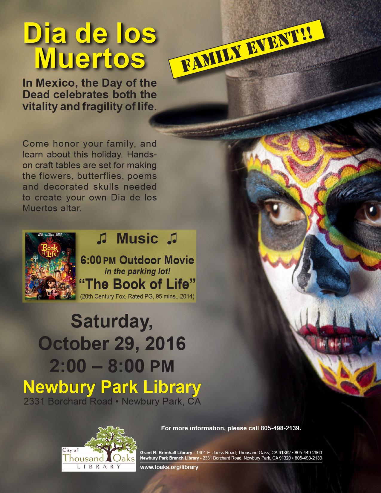 dia de los muertos oct 2016 - Halloween Costumes Thousand Oaks