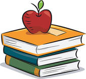 Books And Apple Clipart 02