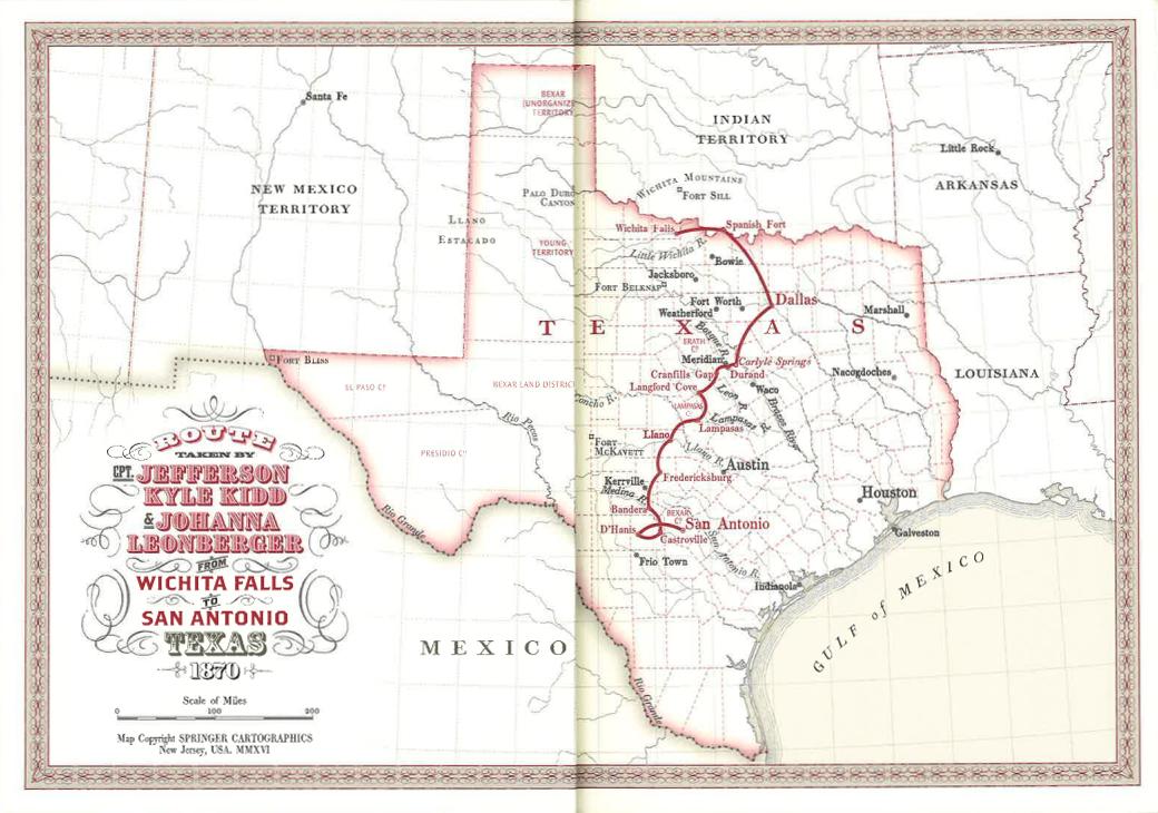 Map of Texas, 1870 | Thousand Oaks, CA