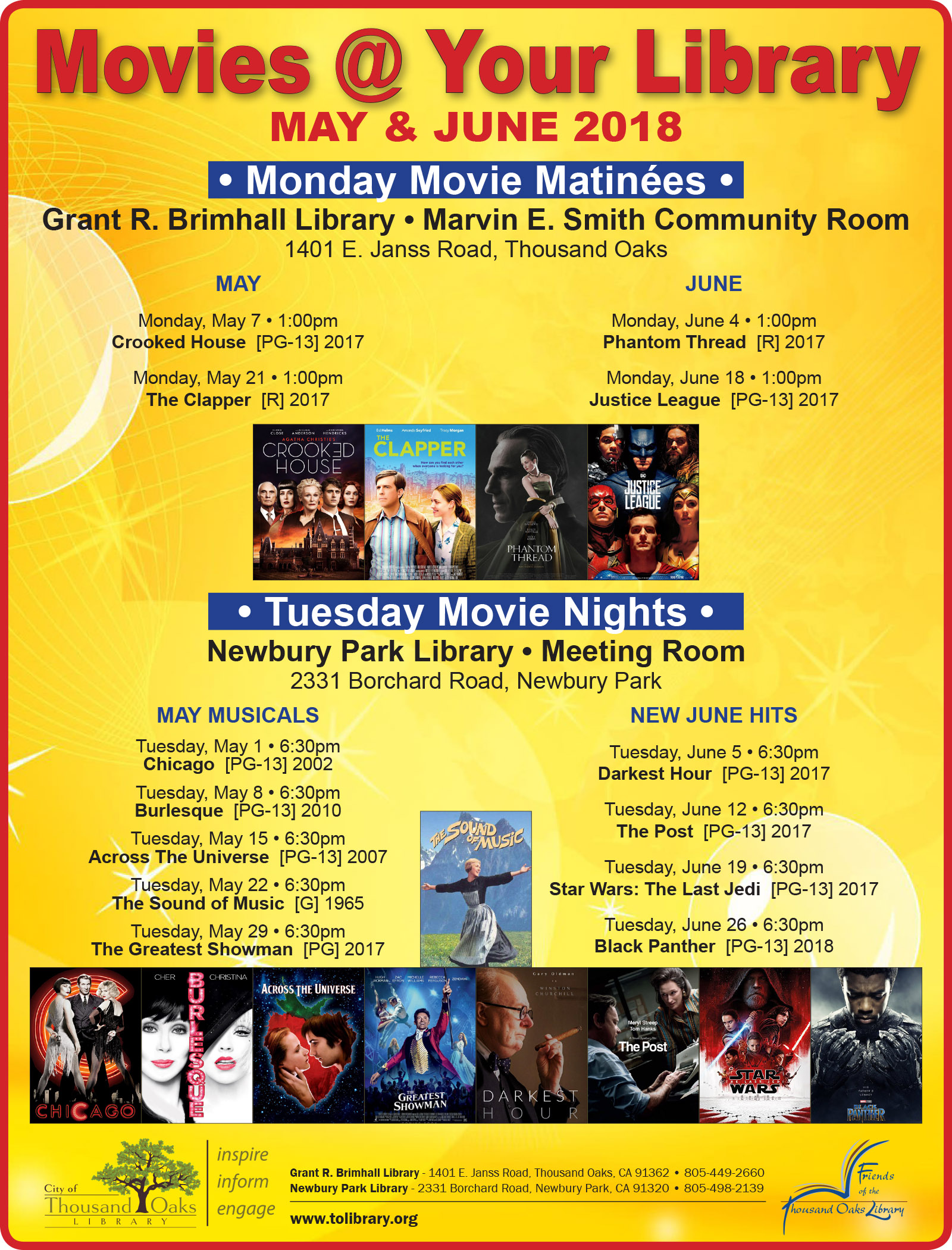 Tuesday Free Movie Nights - The Sound of Music | Calendar