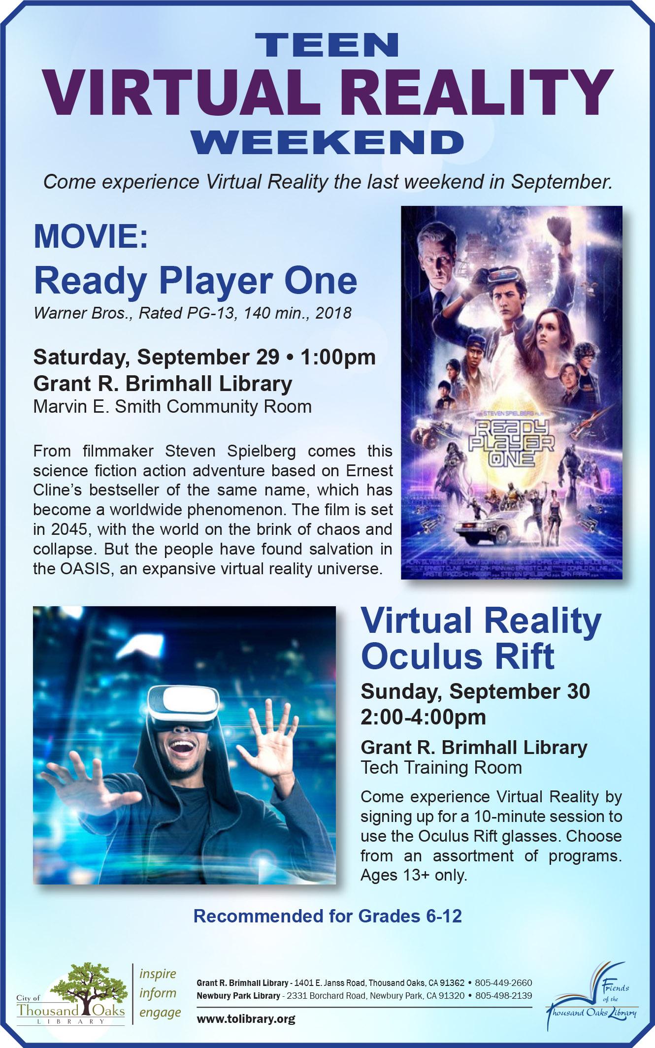 Virtual Reality Oculus Rift | Calendar List View | Thousand Oaks, CA