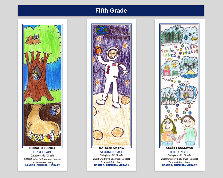 Grant R Brimahll 5th Grade Bookmark Winners