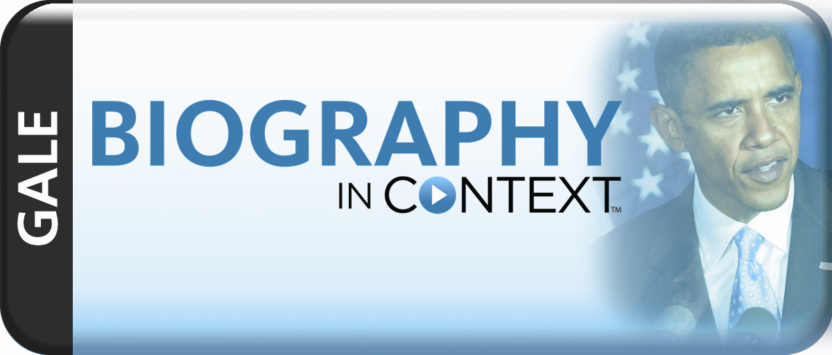 Biography in Context (Gale) LOGO