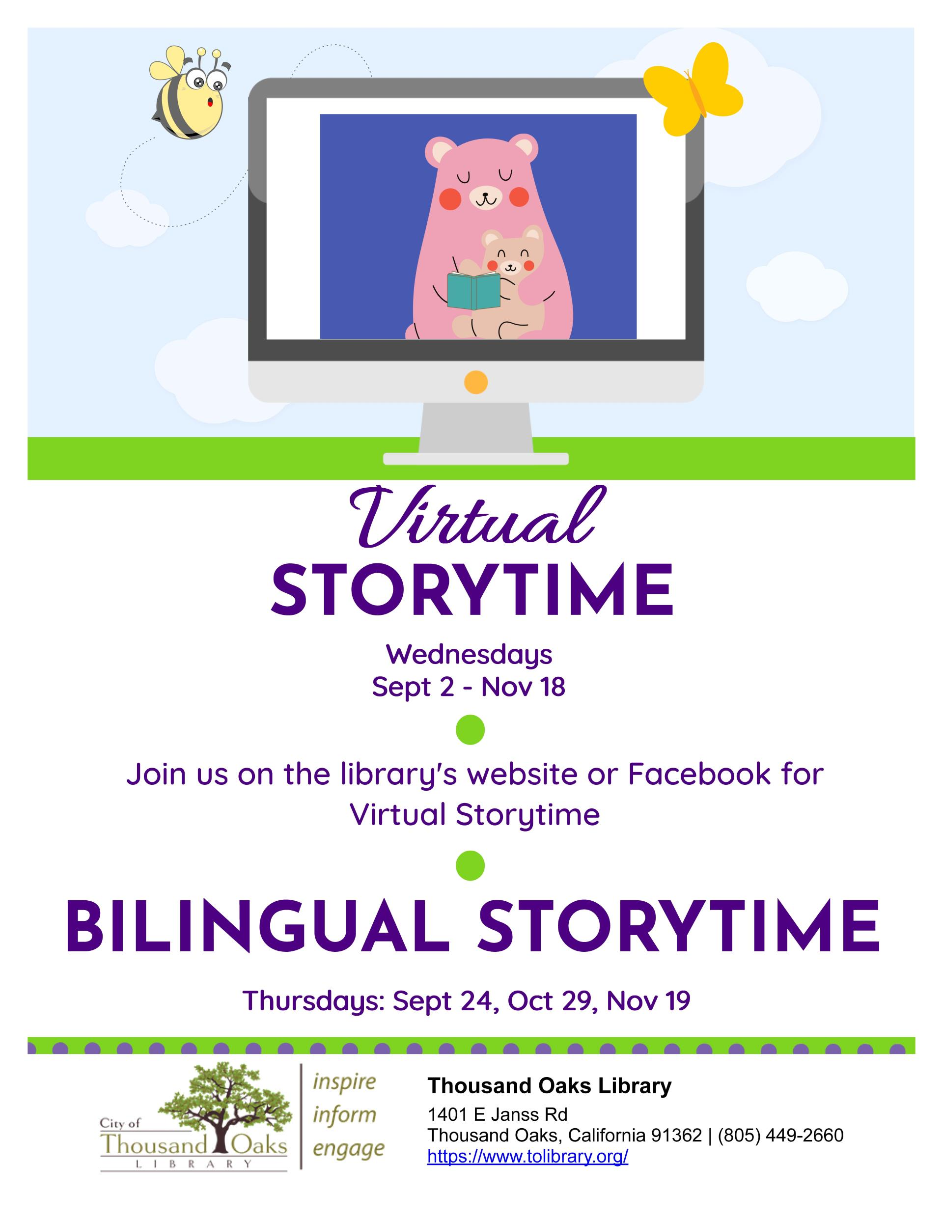 fall storytime flyer