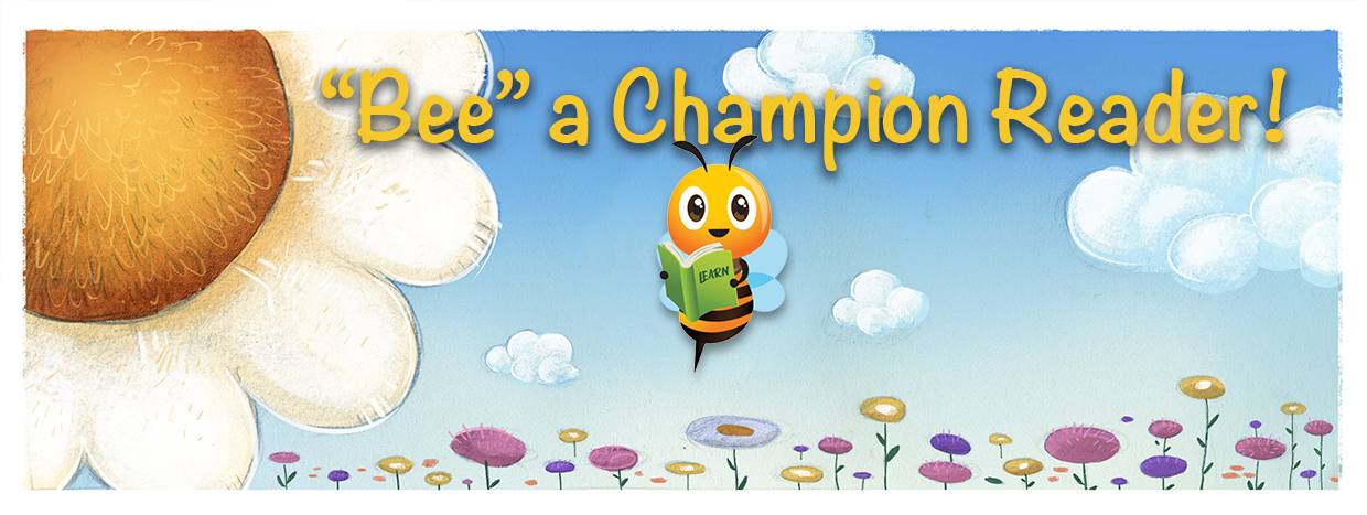 Bee summer reading banner